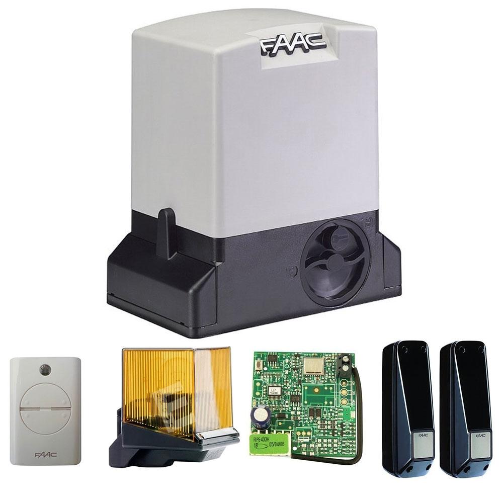 Kit automatizare poarta culisanta FAAC 740 E Z16, 500 Kg, 230 V, 15 m