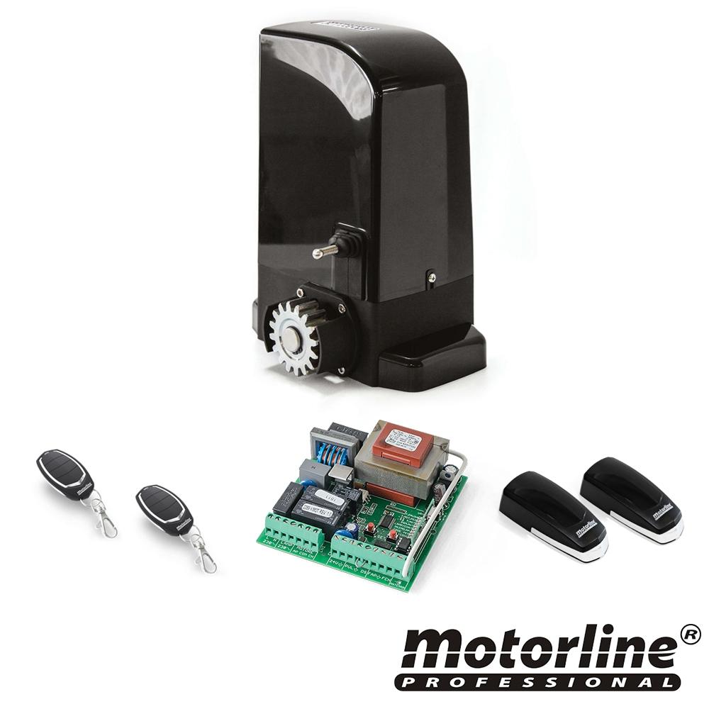 Kit automatizare poarta culisanta Motorline BRAVO500, 500 Kg, 15 m2, 230 Vac