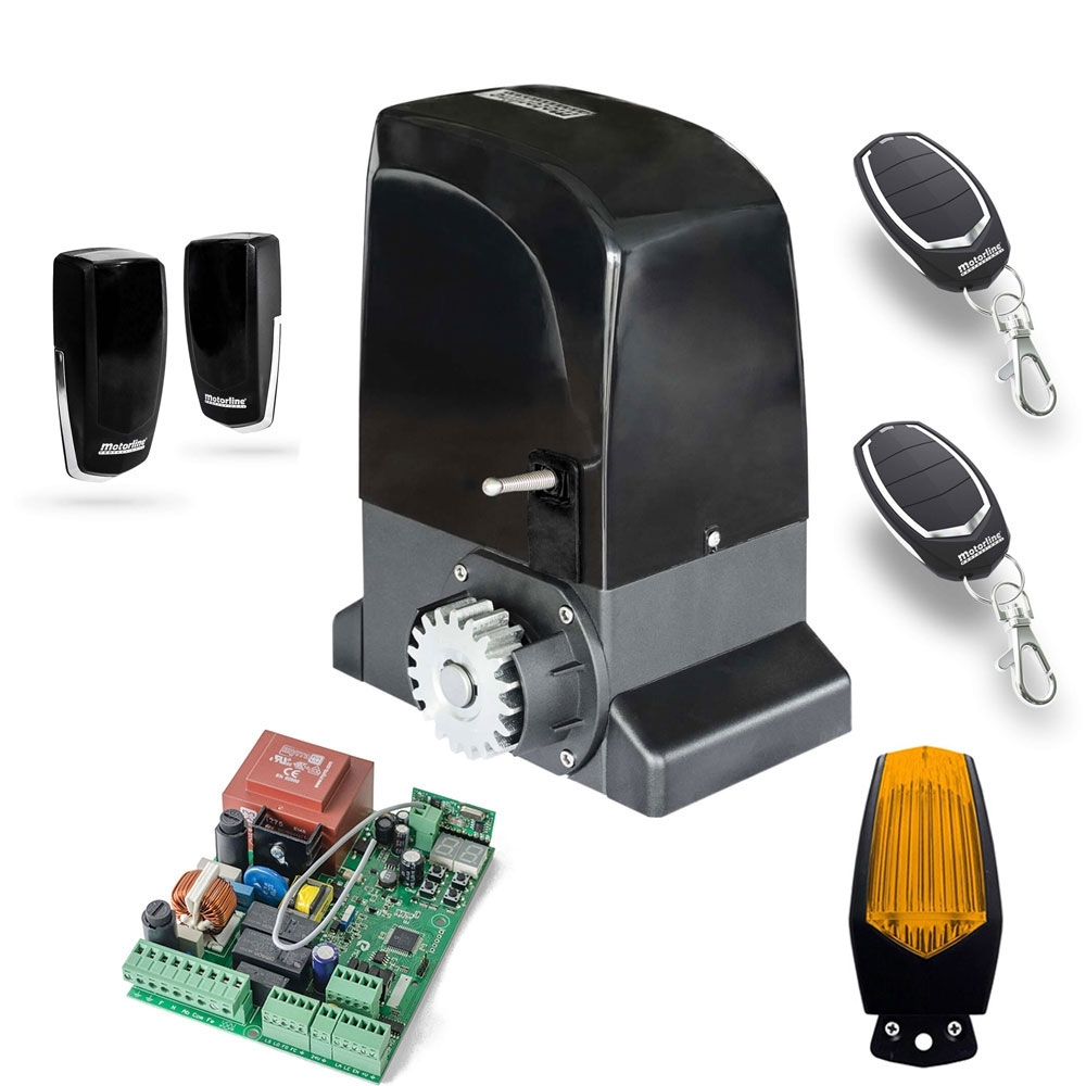 Kit automatizare poarta culisanta Motorline KIT OL2000, 110/230 V, 2000 Kg, 1000 W imagine spy-shop.ro 2021