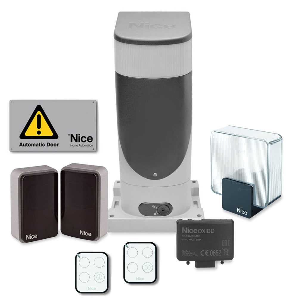 Kit automatizare poarta culisanta Nice SLIGHT KIT, 400 Kg, 6 m, 230 V imagine spy-shop.ro 2021