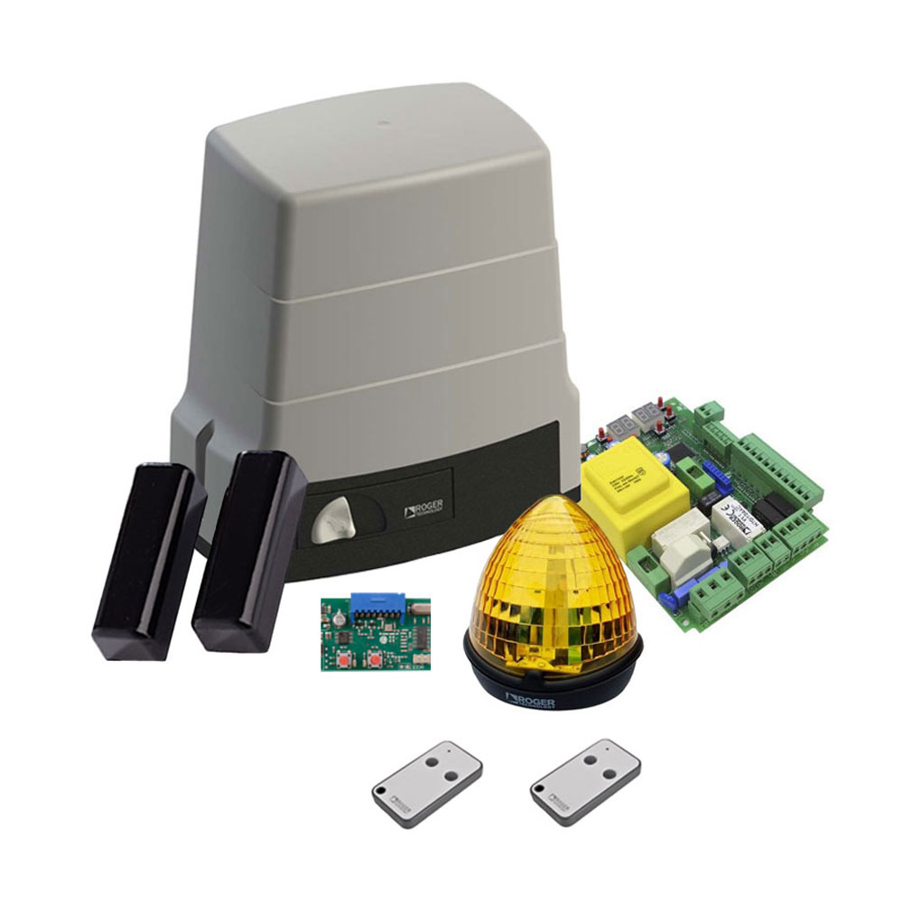Kit automatizare poarta culisanta Roger Technology H30/640, 600 Kg, 240 W, 230 V AC imagine spy-shop.ro 2021
