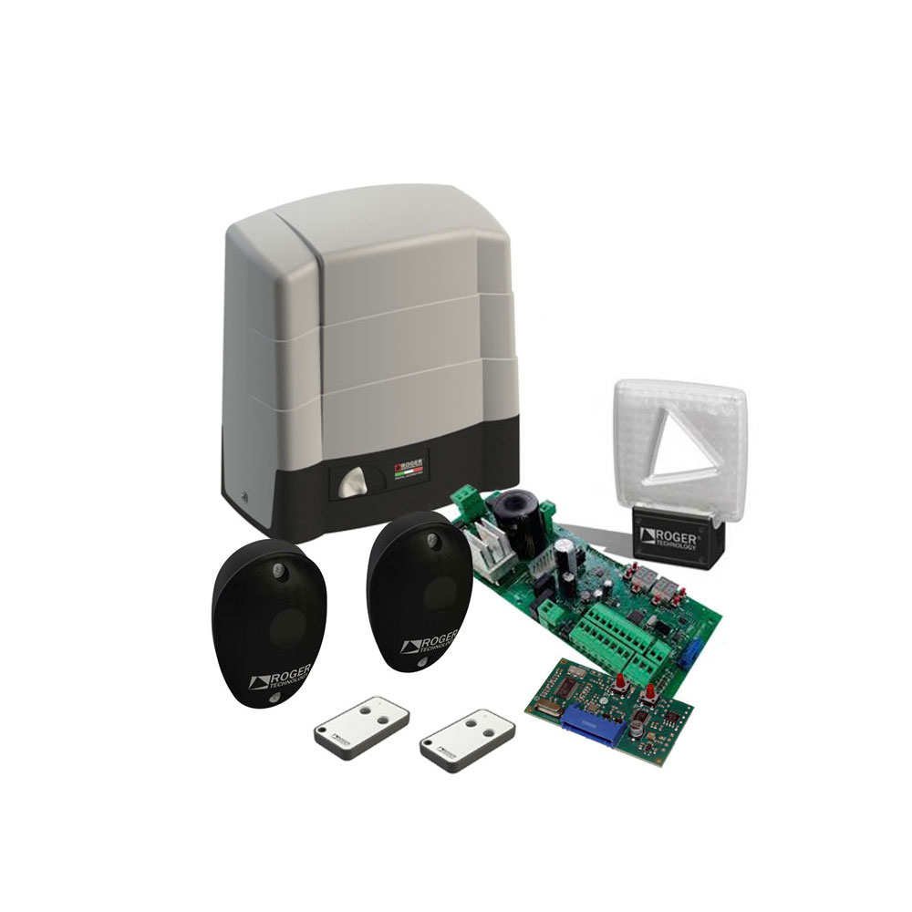Kit automatizare poarta culisanta Roger Technology KIT BG/1004 HS, 1000 Kg, 590 W, 230V AC imagine spy-shop.ro 2021