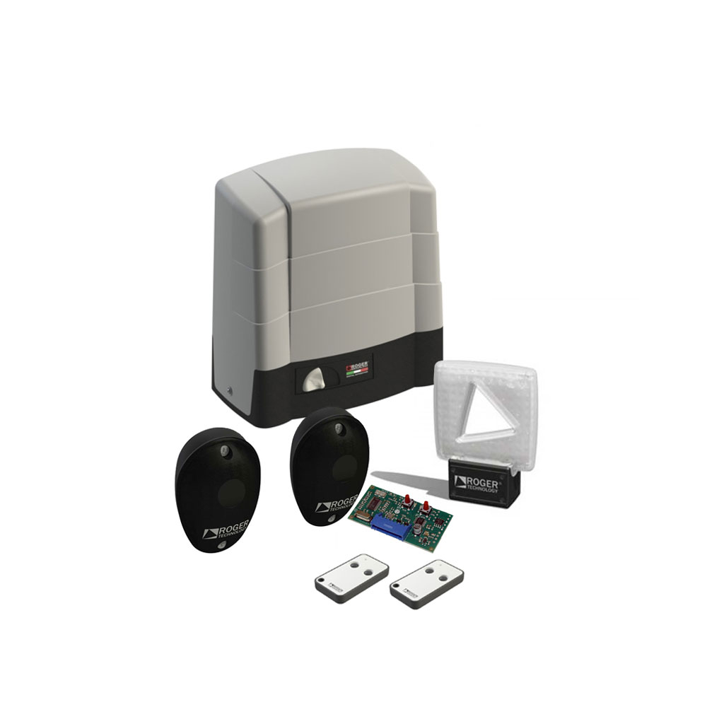 Kit automatizare poarta culisanta Roger Technology KIT BG/1604, 1600 Kg, 390 W, 230V AC imagine spy-shop.ro 2021