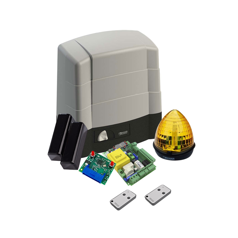Kit automatizare poarta culisanta Roger Technology Kit G30/1804, 1800 Kg, 520 W, 230 Vac imagine spy-shop.ro 2021