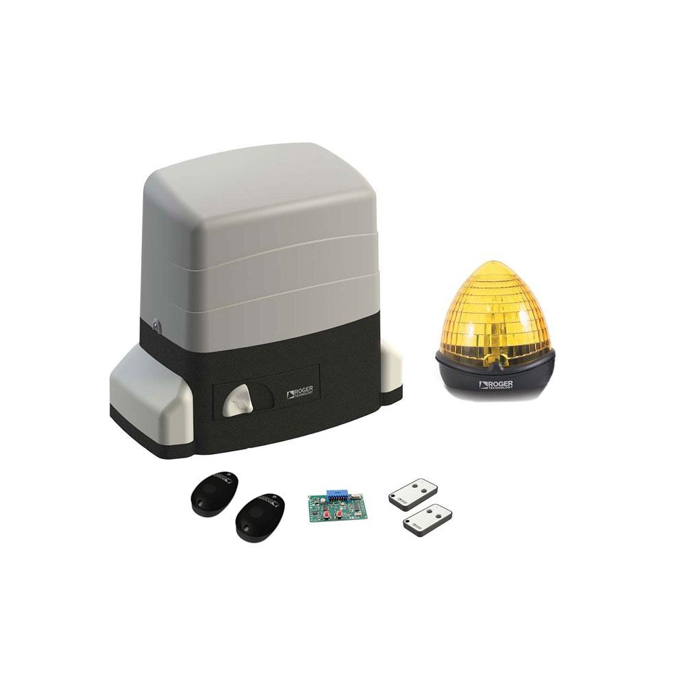 Kit automatizare poarta culisanta Roger Technology Kit R30/1204, 1200 Kg, 230 Vac, 420 W