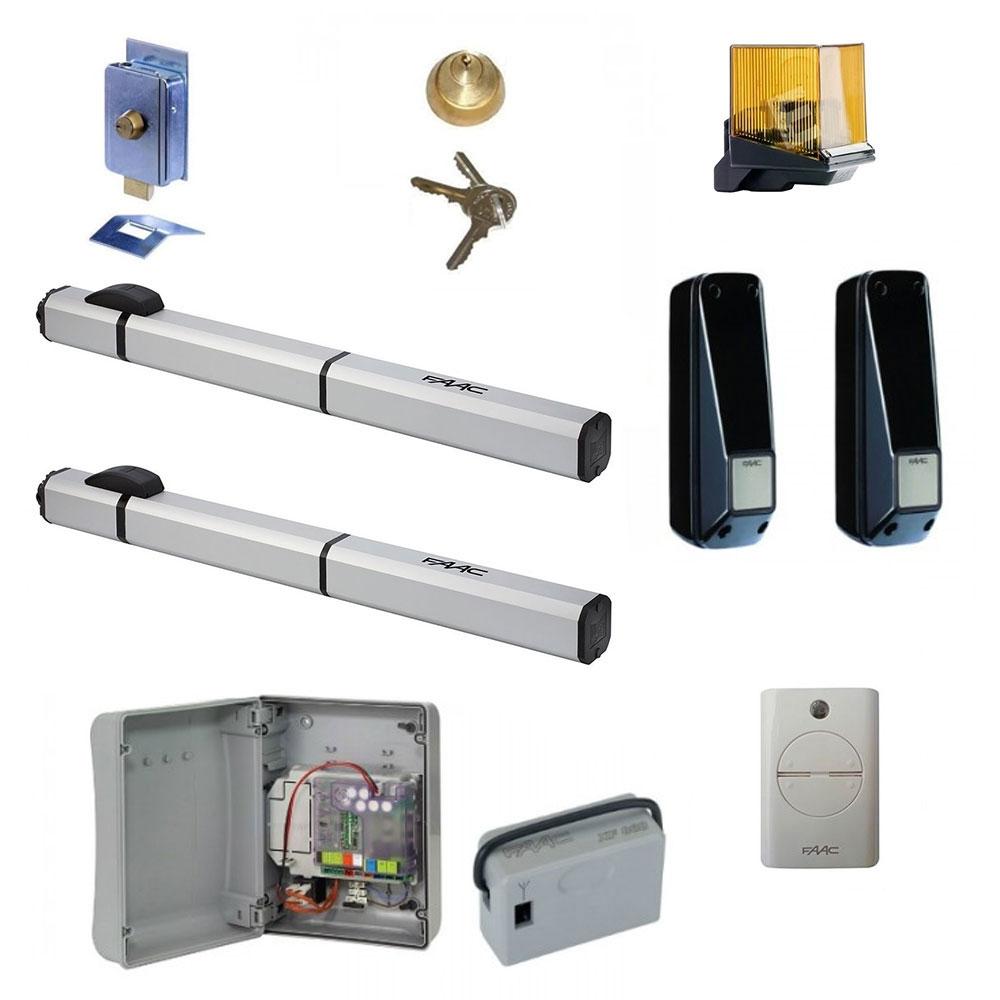 Kit automatizare porti batante 400 SBS, 7 m/canat, 230 V ,590 Kg/canat