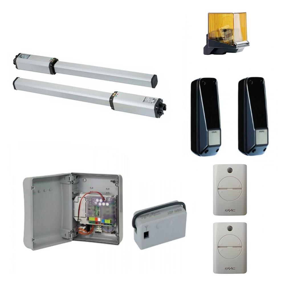 Kit automatizare porti batante FAAC 402 SBS, 230 V, 3 m/canat, 220 W