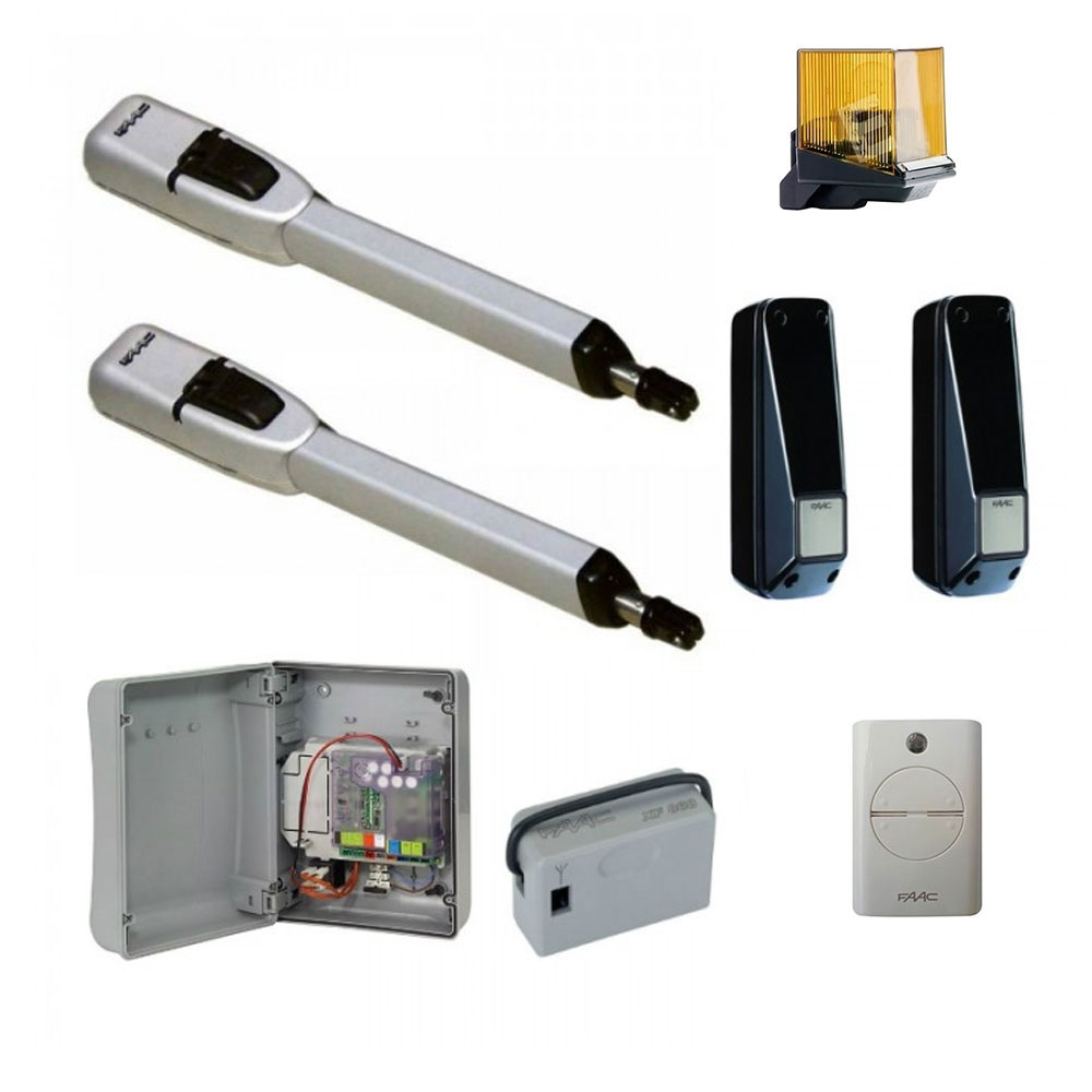 Kit automatizare porti batante FAAC 415 24V, 3 m/canat, 70 W