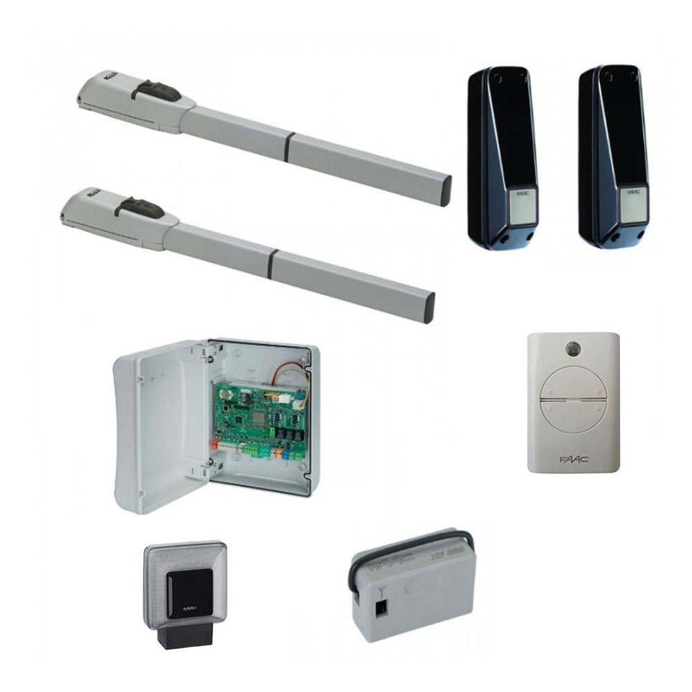 Kit automatizare porti batante FAAC 415, 230 V, 3 m/canat, 300 W