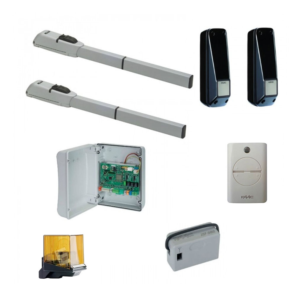 Kit automatizare porti batante FAAC 415L, 230 V, 4 m/canat, 300 Kg/canat 300 W