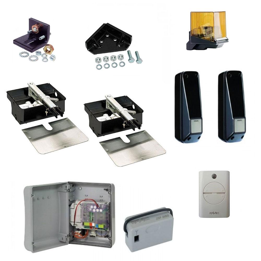 Kit automatizare porti batante FAAC 770, 230 V, 2 m/canat, 500 Kg/canat