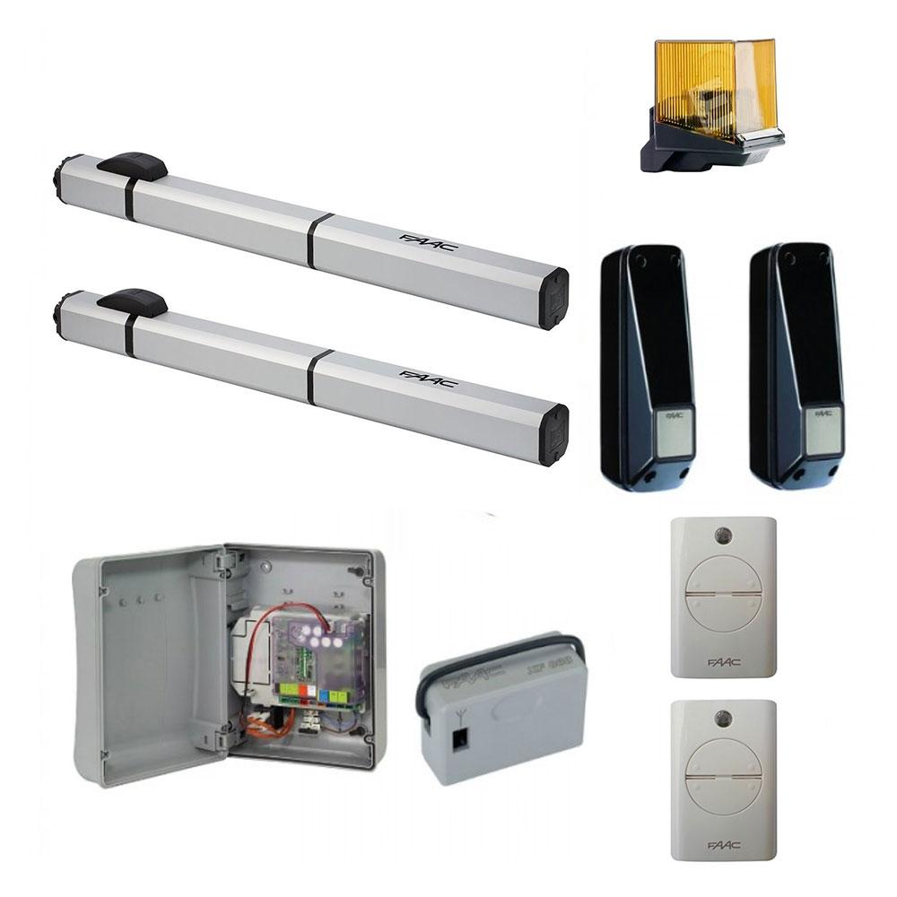 Kit automatizare porti batante FAAC S450H CBAC, 2 m/canat, 288 W