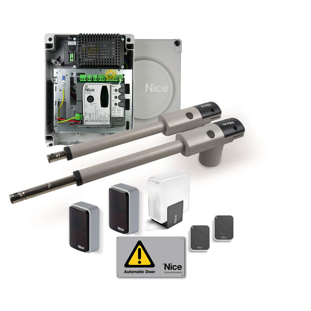 Kit automatizare porti batante Nice TOO3024KCER10, 3 m/canat, 300 Kg/canat, 24 V imagine spy-shop.ro 2021