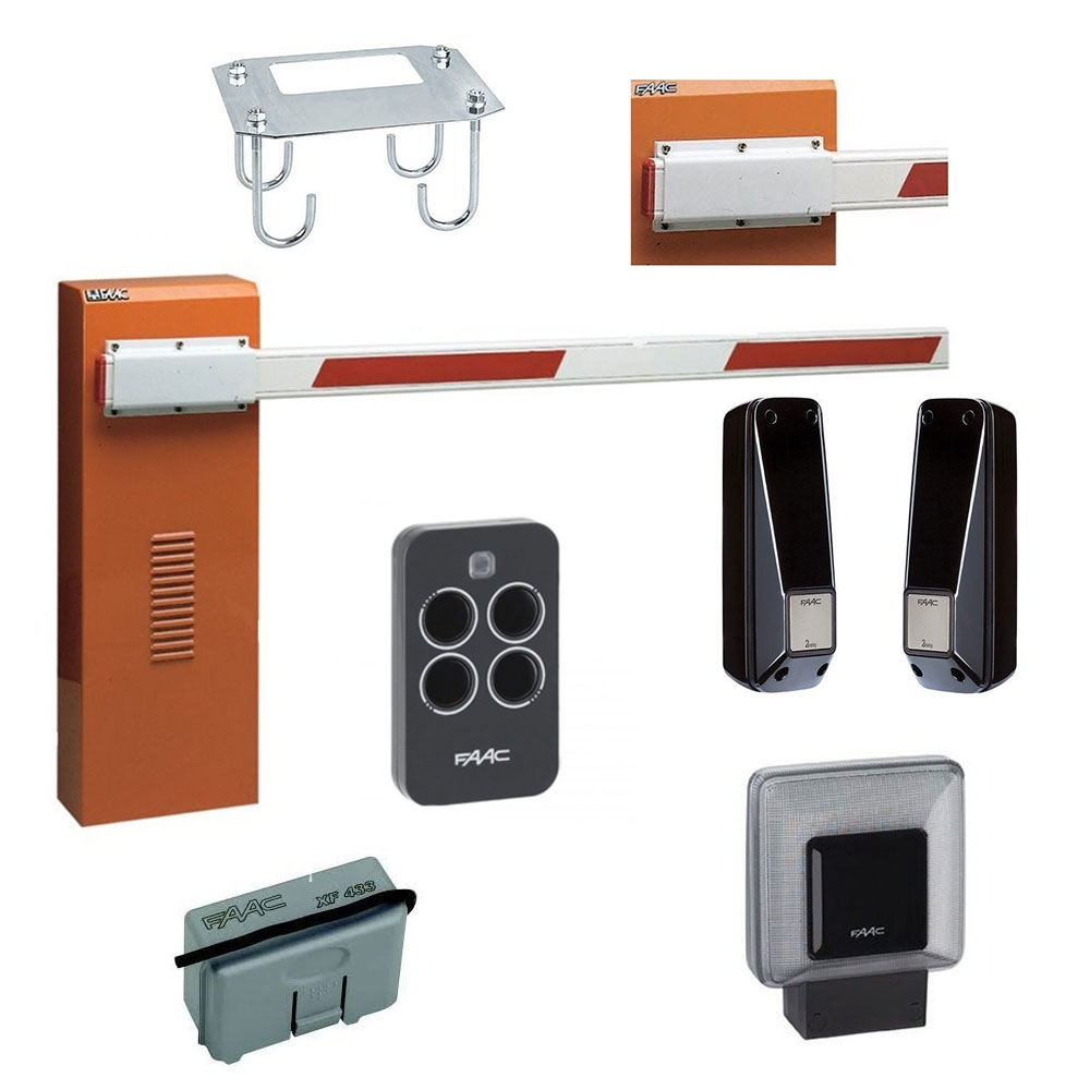 Kit bariera de acces automata FAAC 640 STANDARD, 230 V, 7 m, 1000 W