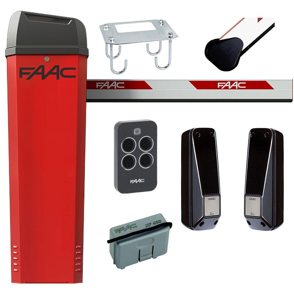 Kit bariera de acces automata FAAC B614, 24 V, 4 m, 165 W