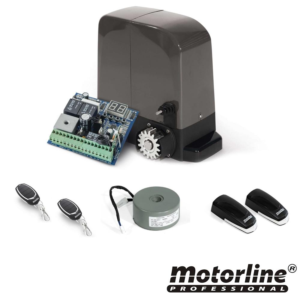 Kit automatizare poarta culisanta Motorline KIT BRAVO524, 500 Kg, 7 m, 230 Vac