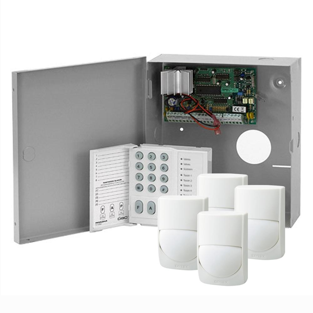 Sistem alarma antiefractie cu tastatura si detectori DSC Power PC585-4XRXC-ST, cutie metalica, 1 partitie, 4-32 zone, 38 utilizatori
