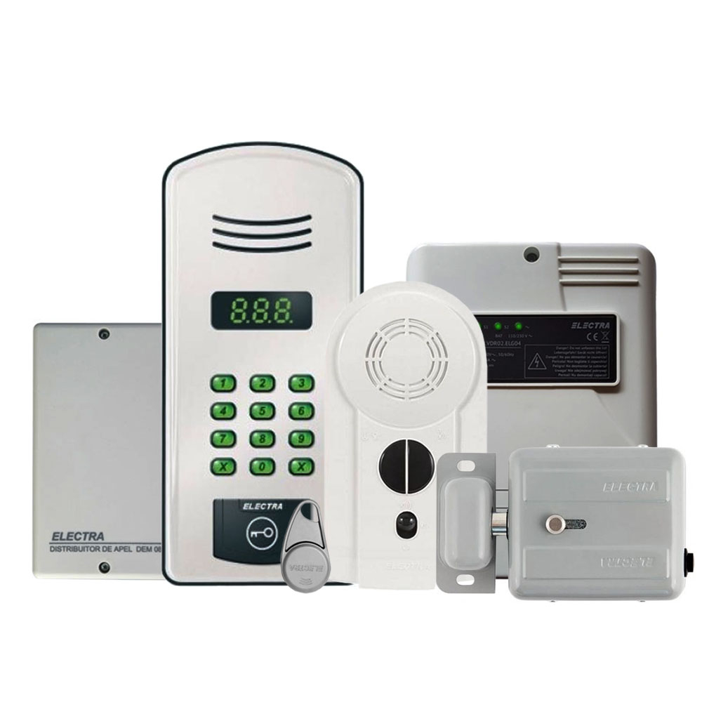 Kit interfon bloc Electra KIT.15A.Y11, 15 familii, RFID, 30 tag-uri imagine spy-shop.ro 2021