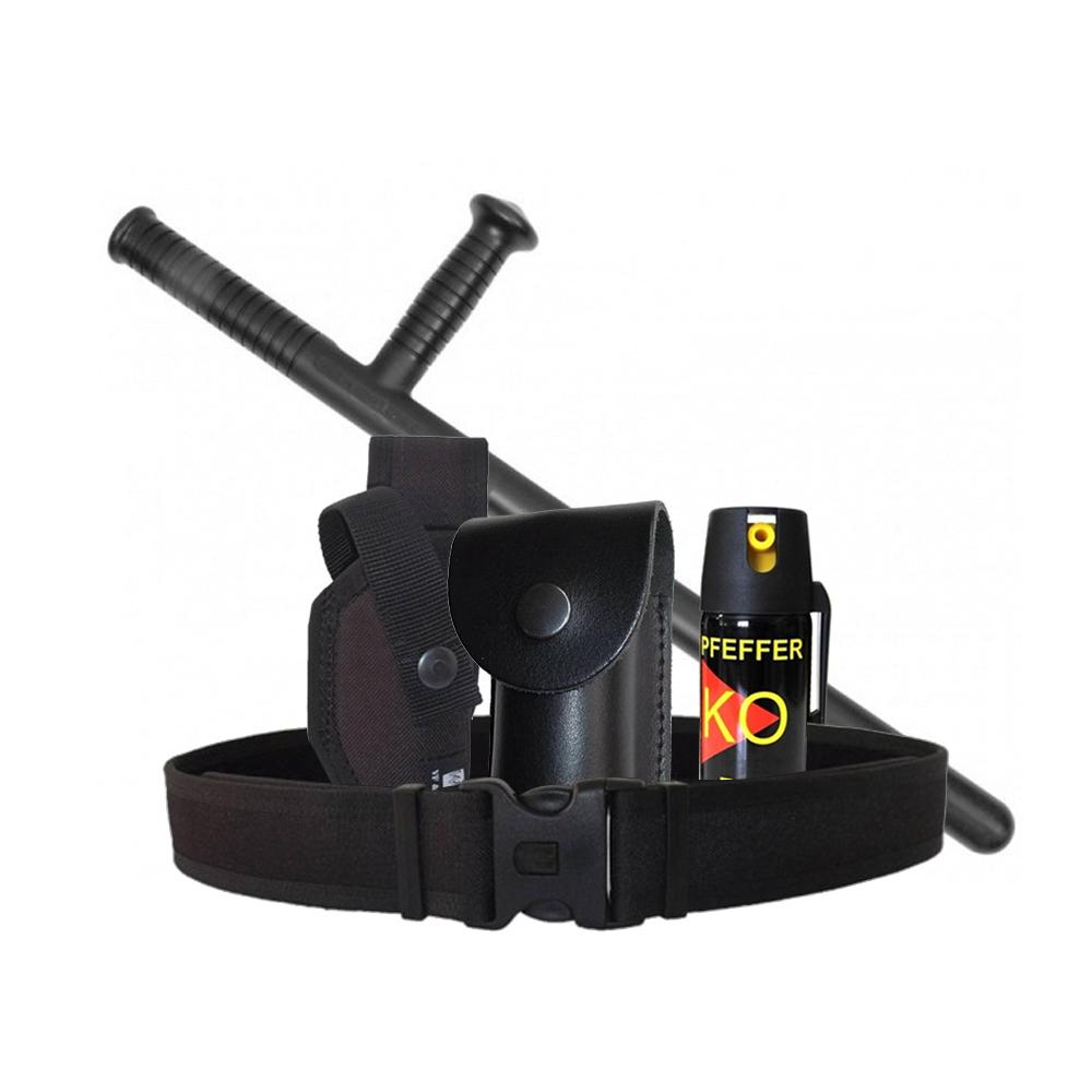 Kit pentru jandarmerie, politie sau servicii de paza, tonfa, spray, toc, suport, centura