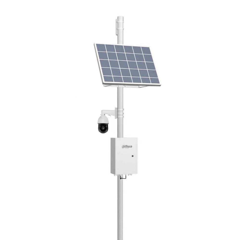 Kit supraveghere IP Speed Dome PTZ Dahua Starlight WizSense cu panou solar, GSM 4G, 4 MP, 4.8 - 120 mm, motorizat, 25x, slot card
