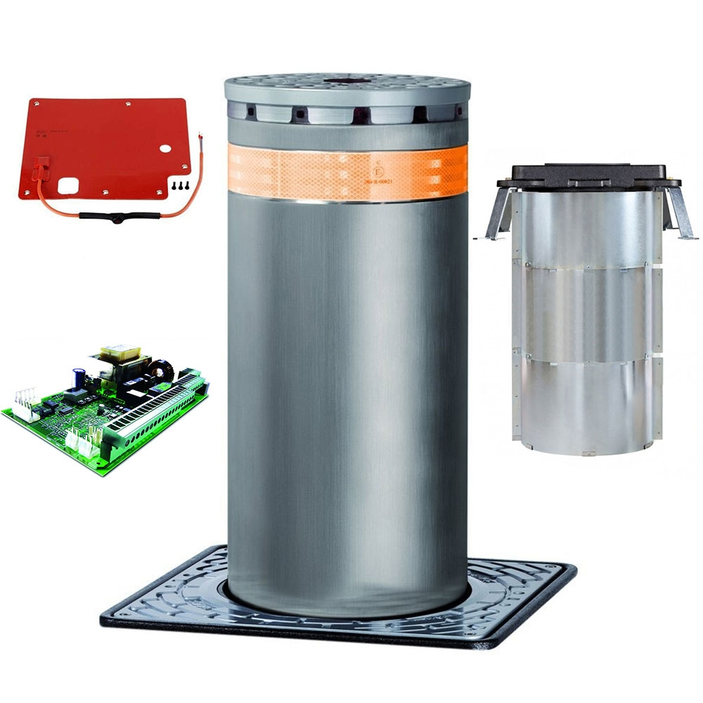 Kit stalp retractabil automat restrictionare acces auto FAAC BOLLARD J275 HA 600, 230 V, IP 67, 220 W