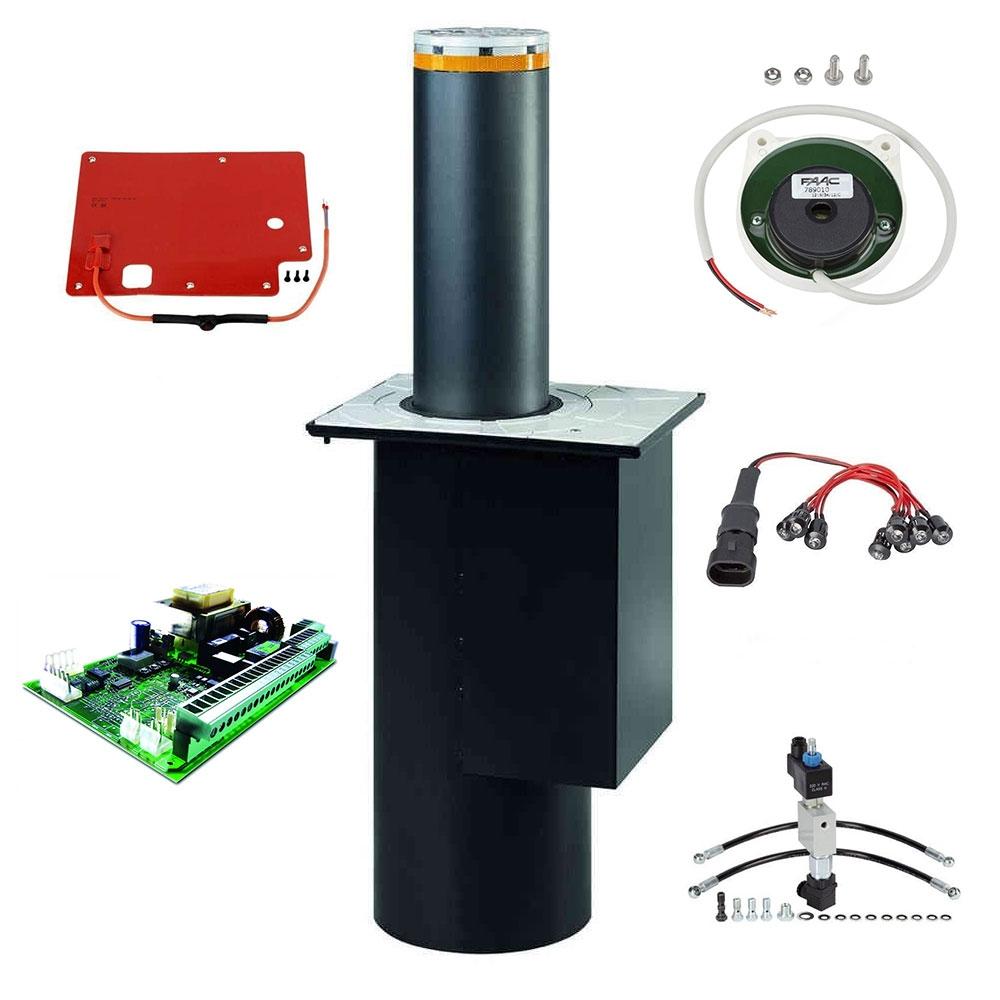 Kit stalp retractabil restrictionare acces auto FAAC BOLLARD J200 HA, 230 V, IP 67, 230 W