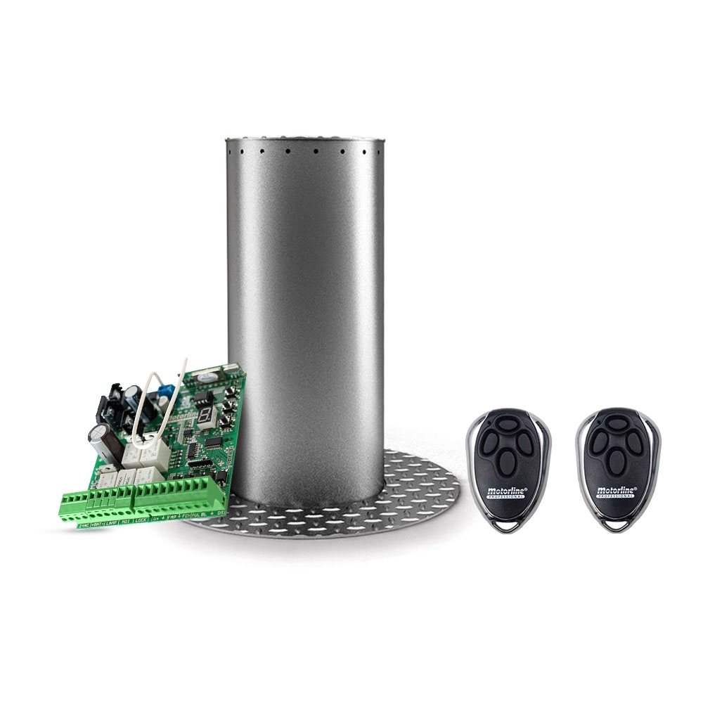 Stalp / bolard retractabil restrictionare acces auto Motorline MPIE10/400, 24 VDC, inox imagine spy-shop.ro 2021