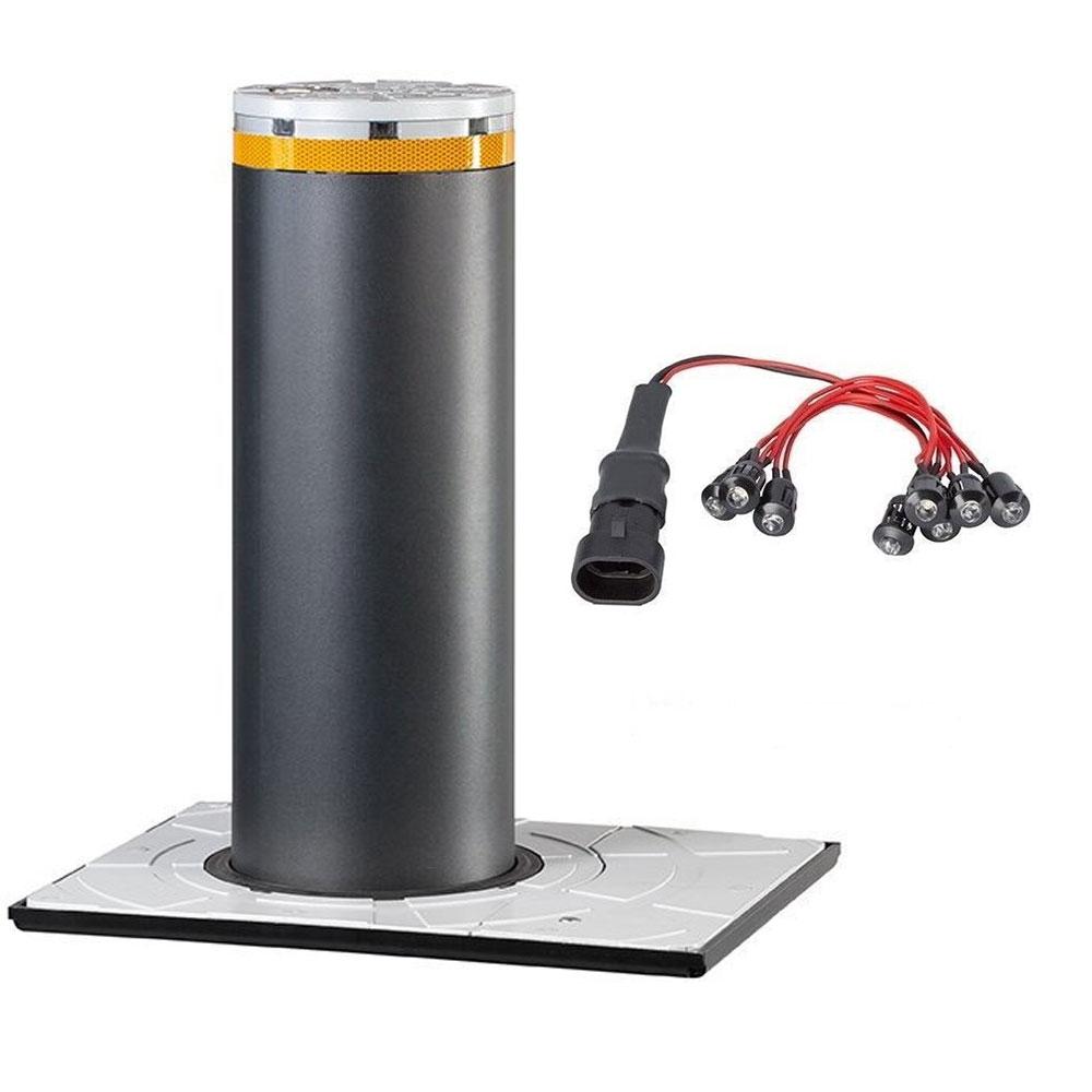 Kit stalp fix restrictionare acces auto FAAC BOLLARD J200 F, otel inoxidabil
