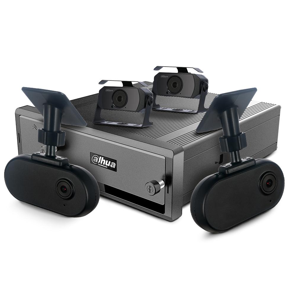 Kit supraveghere auto Dahua, 4 camere, 2 MP, IR 20 m, microfon, GPS, WiFi, GSM 4G imagine spy-shop.ro 2021