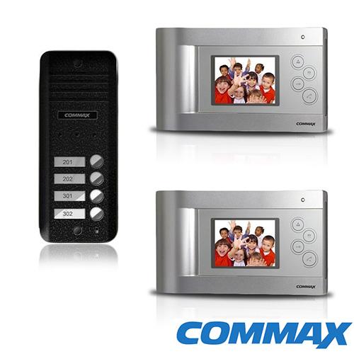 KIT VIDEOINTERFON PENTRU 2 FAMILII COMMAX CQ-2F