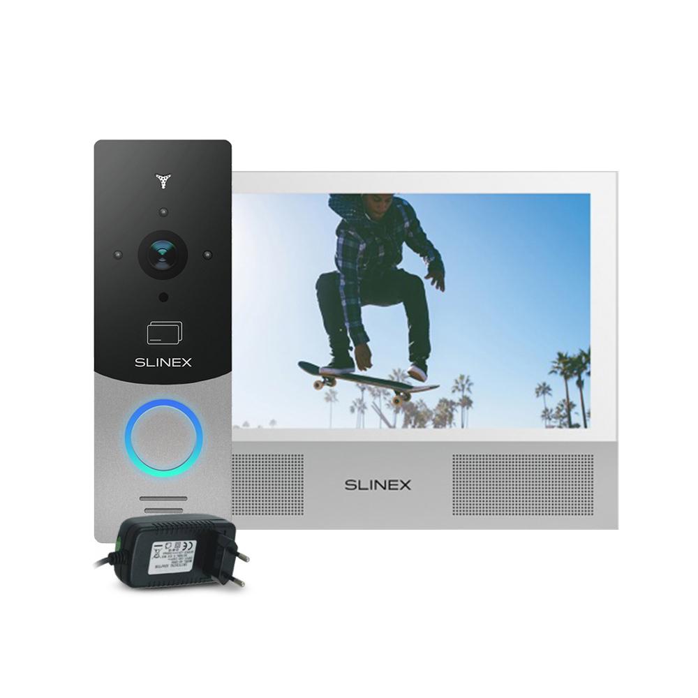 Kit videointerfon RFID Slinex ML-20CRHD-SB-SONIK-7-W-PA12/2A, 1 familie, aparent, 7 inch, touchscreen, IR 1.5 m, Full HD imagine spy-shop.ro 2021
