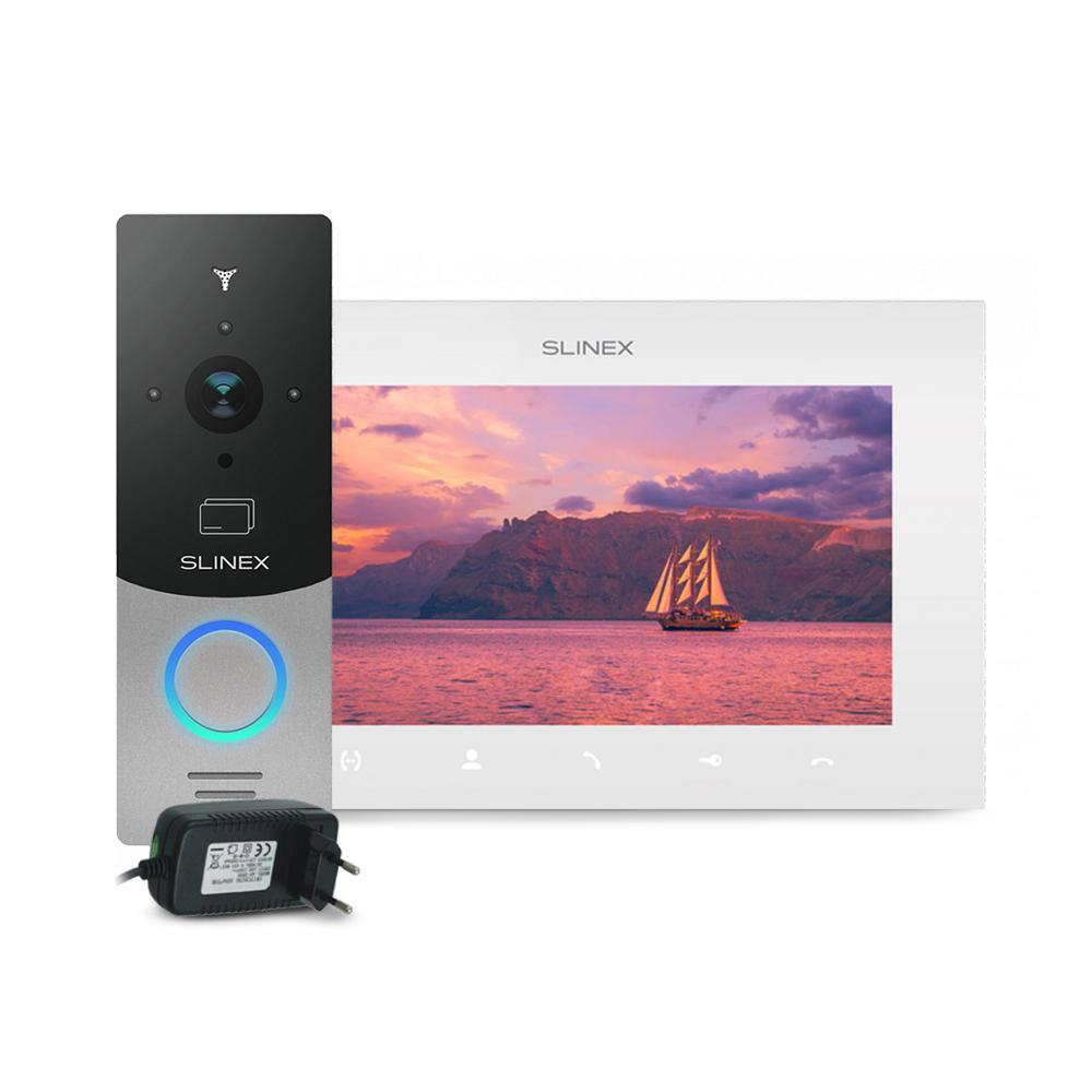 Kit videointerfon RFID Slinex ML-20CRHD-SB-SQ-07MTHD-W-PA12/2A, 1 familie, aparent, 7 inch, touchscreen, IR 1.5 m, Full HD imagine spy-shop.ro 2021