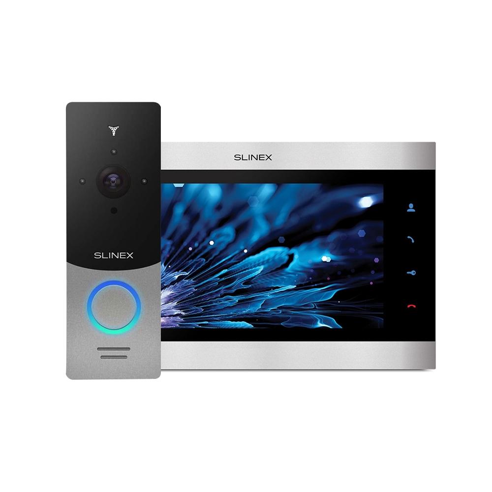 Kit videointerfon WiFi Slinex 1xML-20IP-SB+1xSL-10IPT-SB, 1 familie, aparent, ecran 10 inch imagine spy-shop.ro 2021