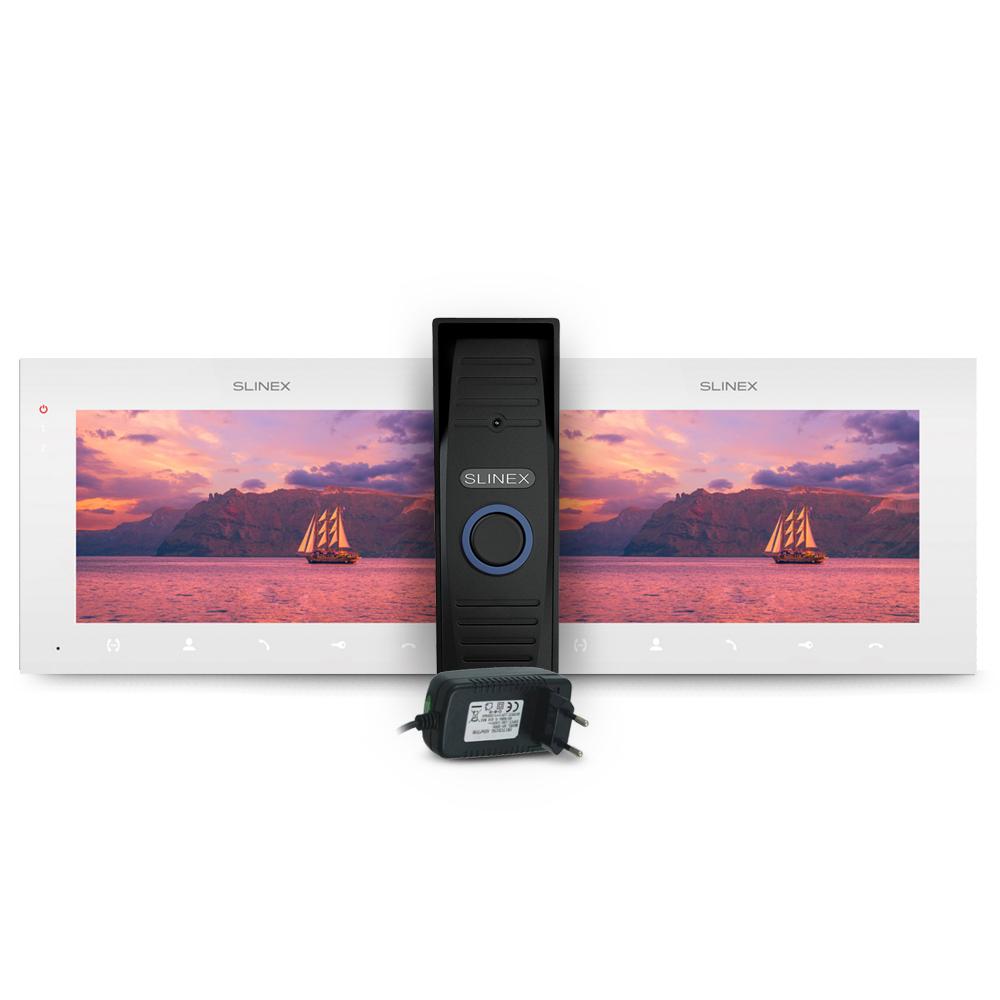 Kit videointerfon Slinex ML-15HD-B-2XSQ-07MTHD-W-PA12/2A, 1 familie, aparent, 7 inch, IR 1.5 m, 2 MP