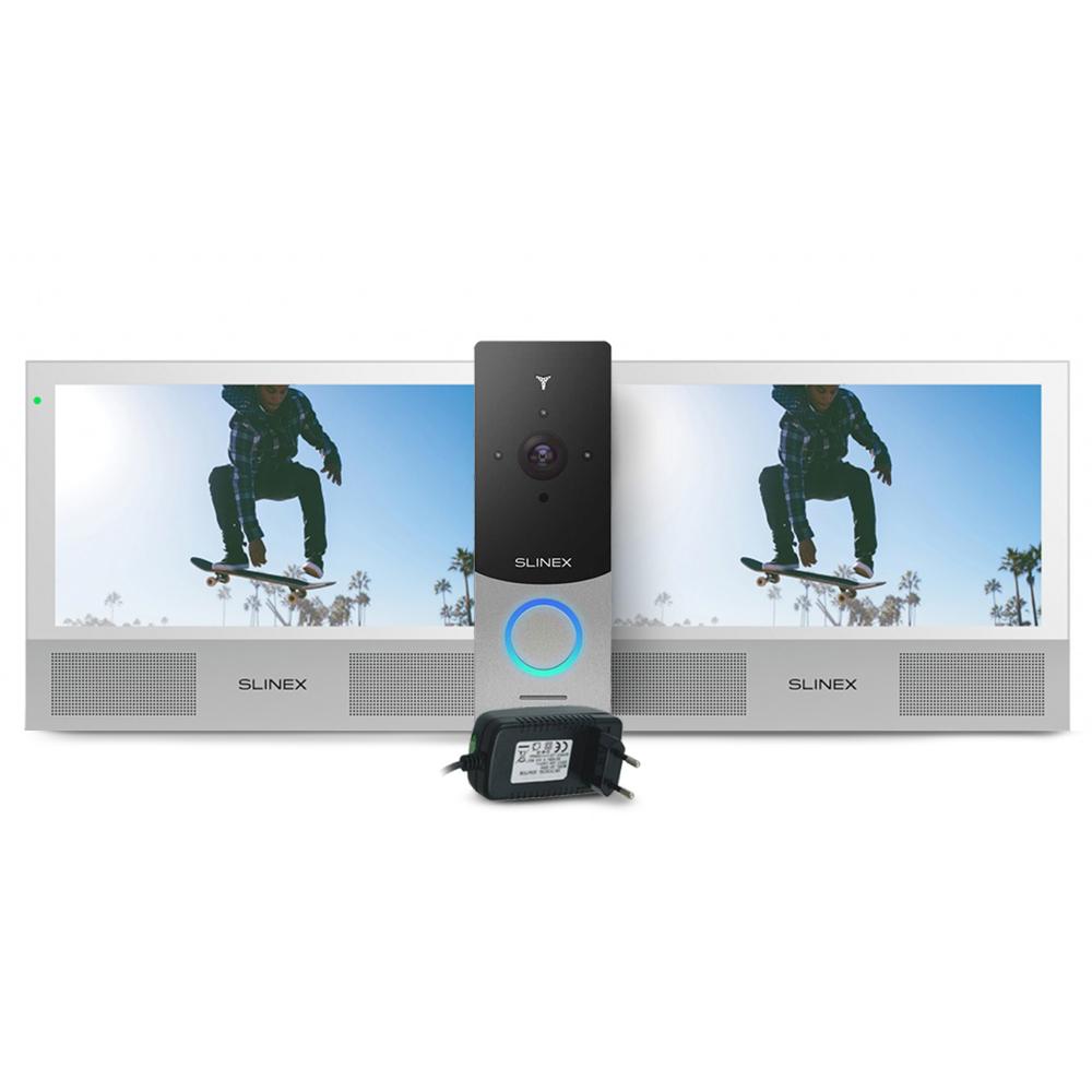 Kit videointerfon WiFi Slinex ML-20IP-SB-2XSONIK-7-W-PA12/2A, 1 familie, aparent, 7 inch, touchscreen, IR 1 m, HD imagine spy-shop.ro 2021