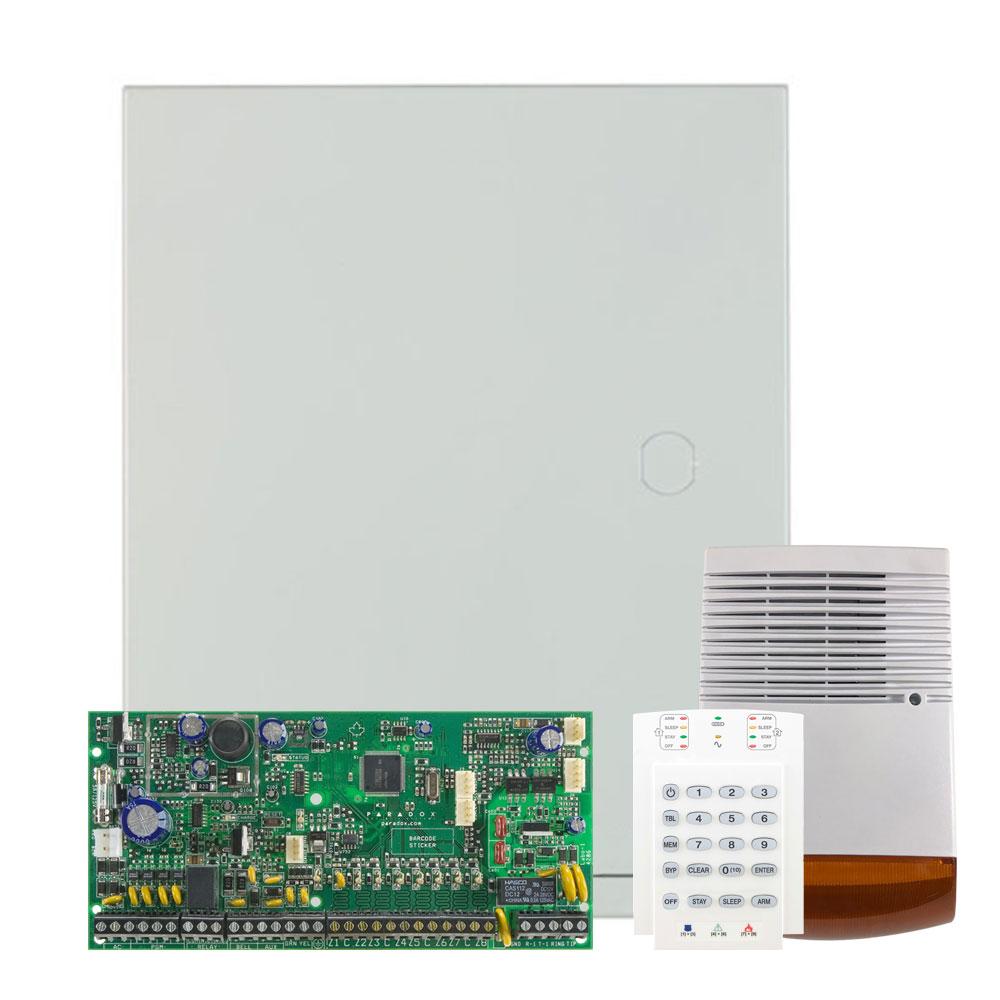 Kit alarma antiefractie Paradox Spectra SP6000+K10V+SL-900B, 2 partitii, 8-32 zone, 32 utilizatori, cutie cu traf imagine spy-shop.ro 2021