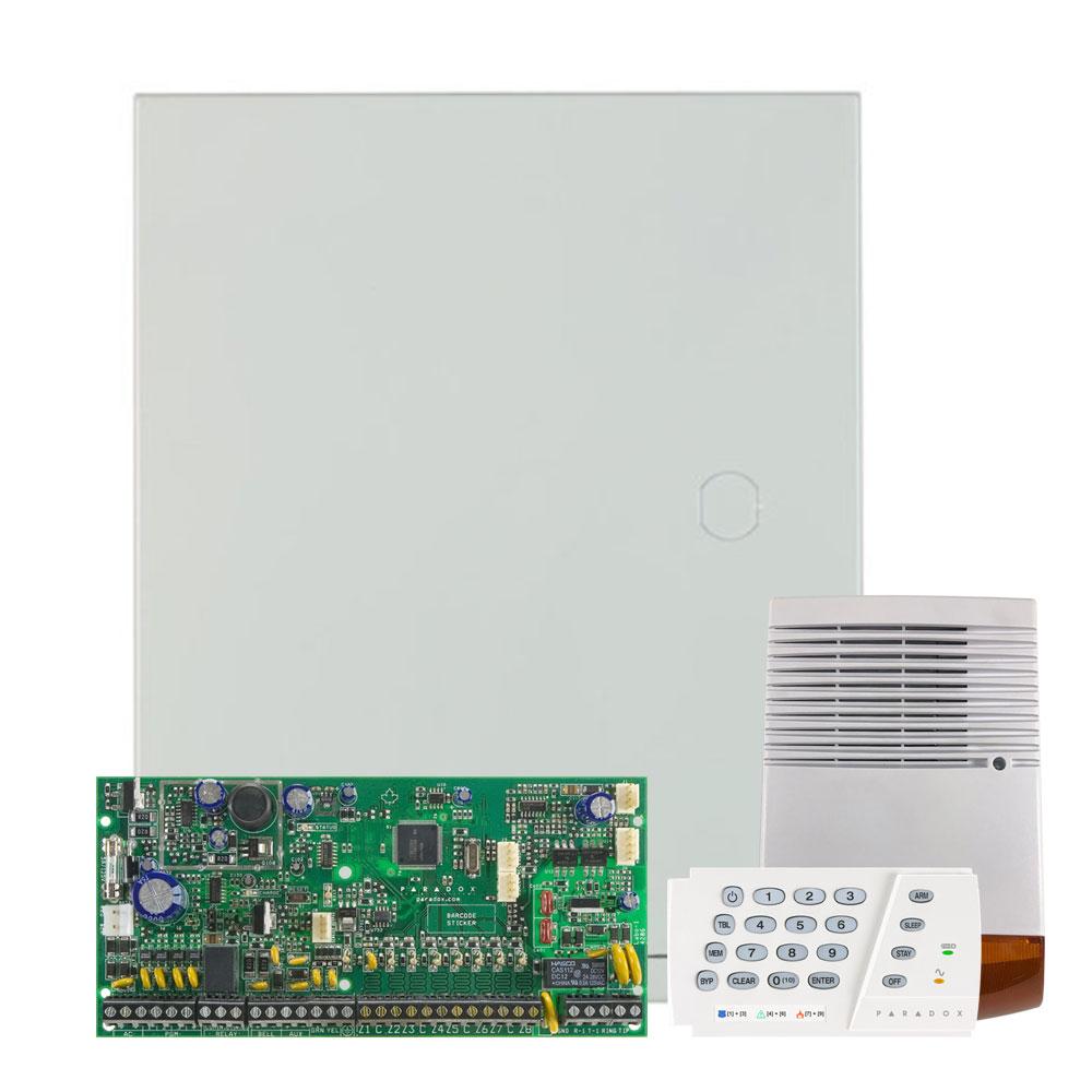 Kit alarma antiefractie Paradox Spectra SP6000+K636+SL-900B, 2 partitii, 8-32 zone, 32 utilizatori, cutie cu traf imagine spy-shop.ro 2021
