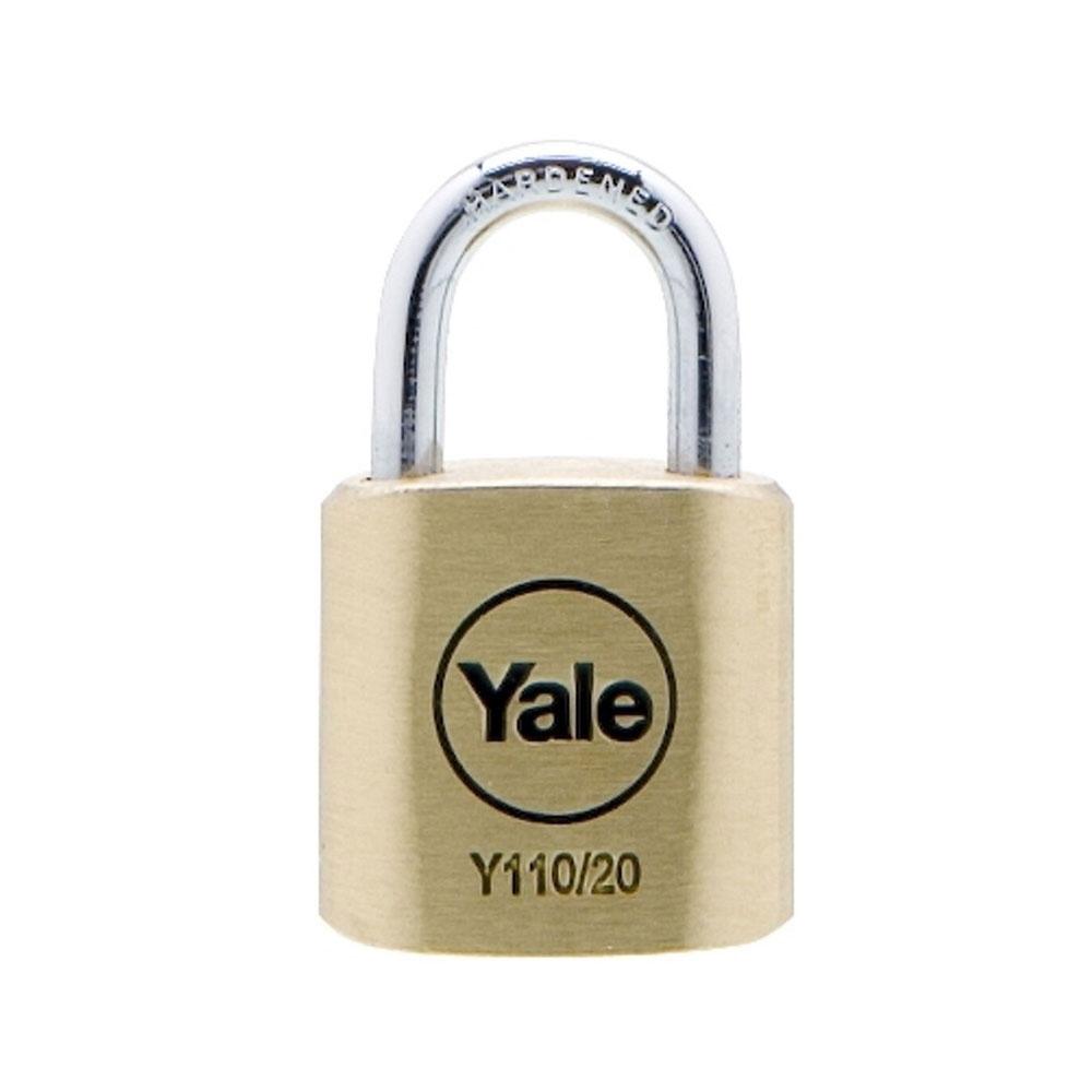 Lacat de alama cu cheie Yale Y110/20/111/1 imagine spy-shop.ro 2021