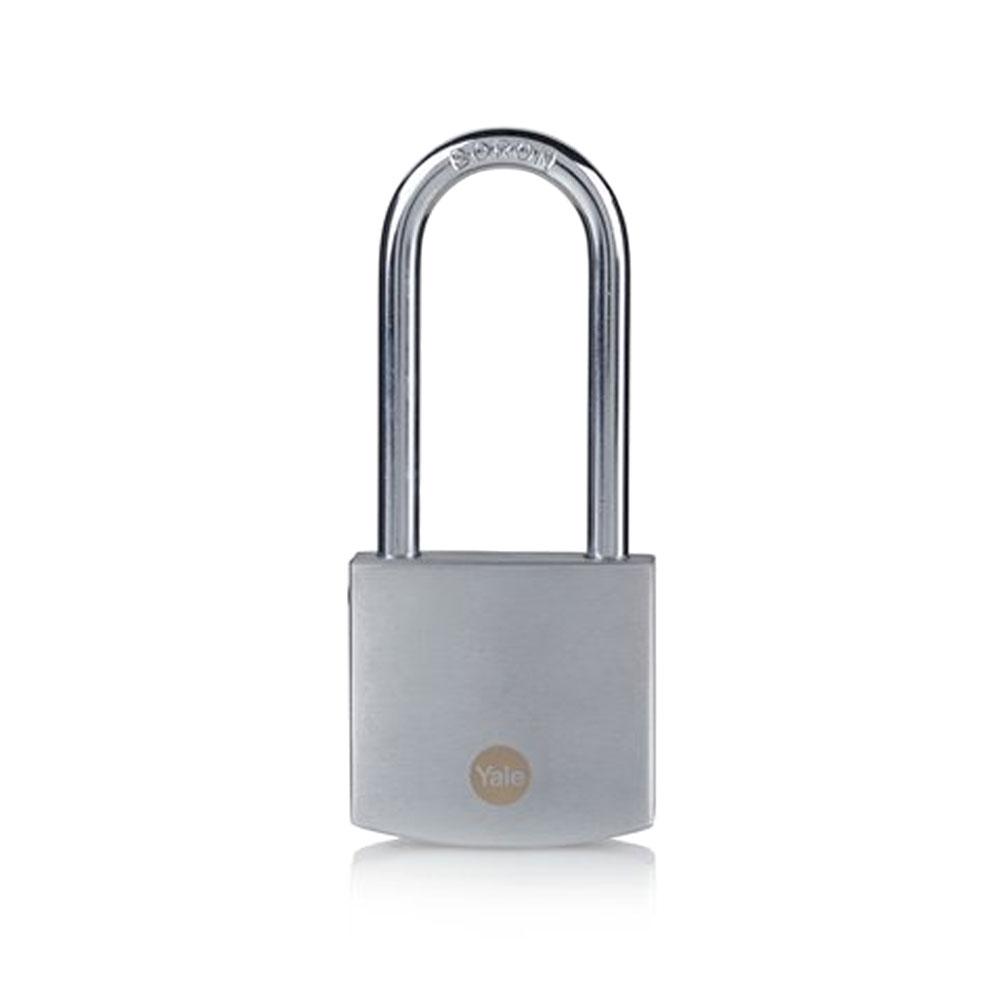 Lacat din alama cu finisaj cromat Yale Y120B/50/163/1, 50 mm, cheie, exterior imagine spy-shop.ro 2021