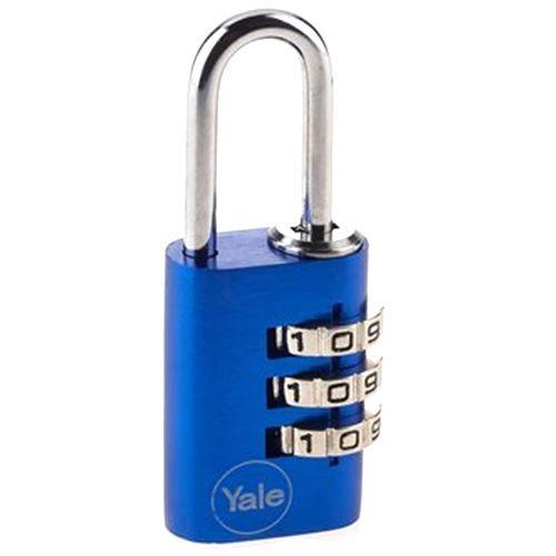 Lacat din aluminiu albastru cu cifru Yale YE3C/28/126/1/BL imagine spy-shop.ro 2021