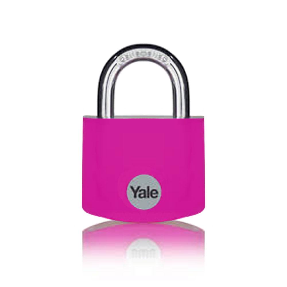 Lacat din aluminiu Yale YE3B/25/112/1/P, 25 mm, cheie, aluminiu imagine