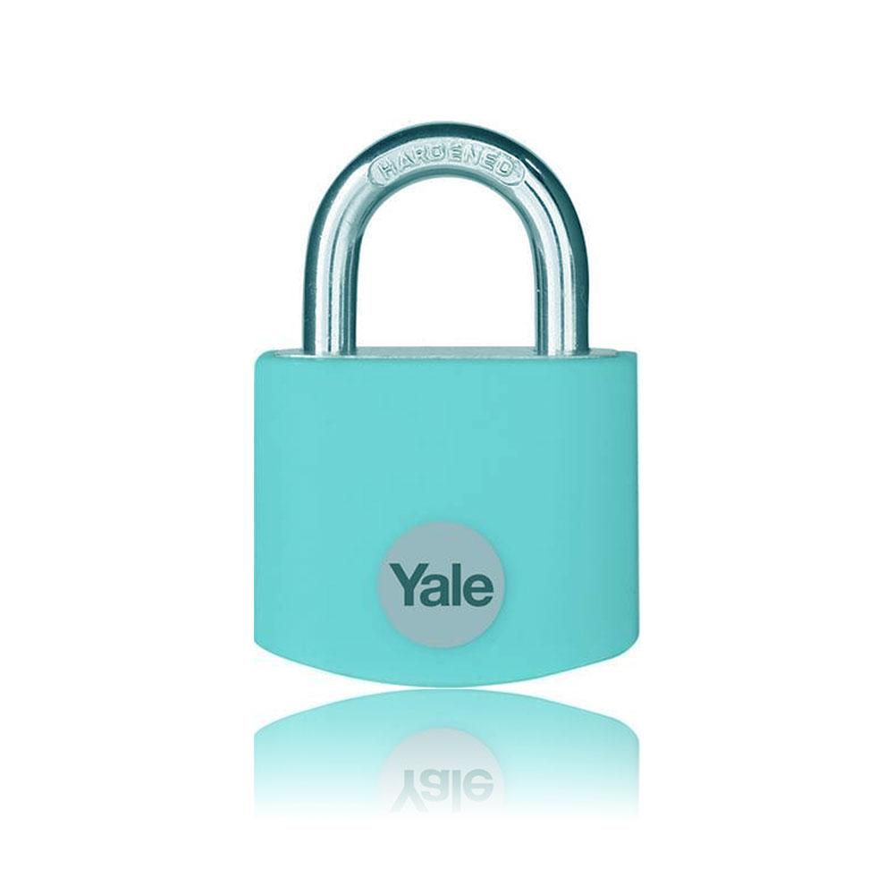 Lacat din aluminiu Yale YE3B/38/119/1/TE, 38 mm, cheie, extrior imagine