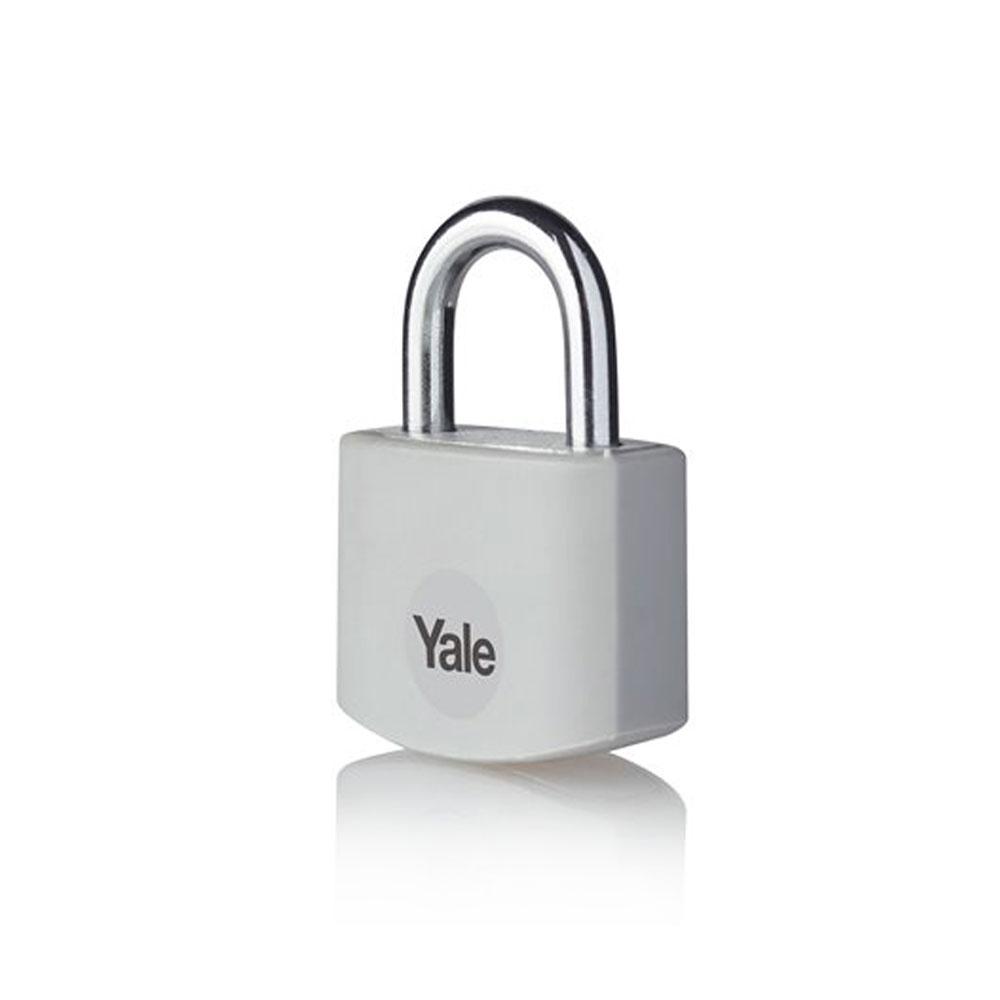 Lacat din aluminiu Yale YE3B/25/112/1GR, 25 mm, cheie, interior imagine