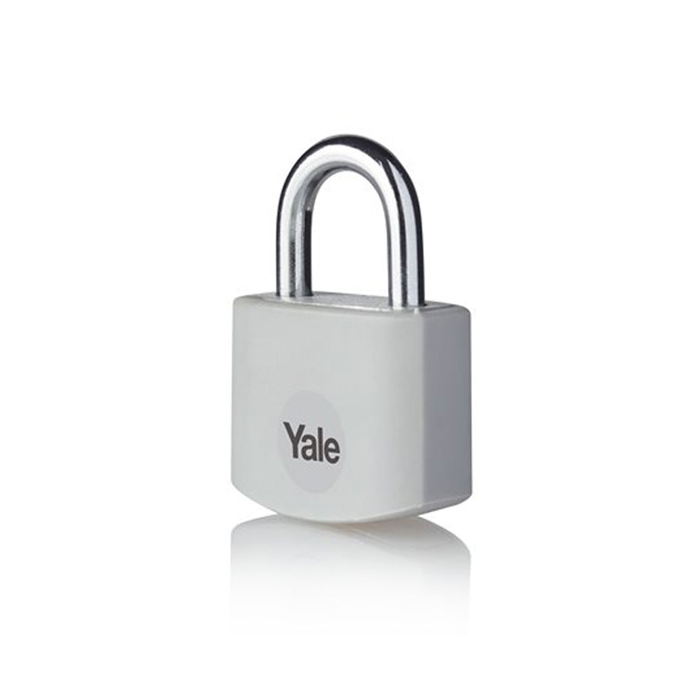 Lacat din aluminiu Yale YE3B/32/116/1/GR, 32 mm, cheie, interior imagine