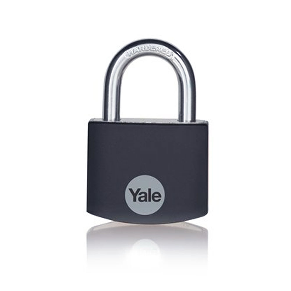 Lacat din aluminiu Yale YE3B/32/116/1/BK, 32 mm, cheie, interior imagine