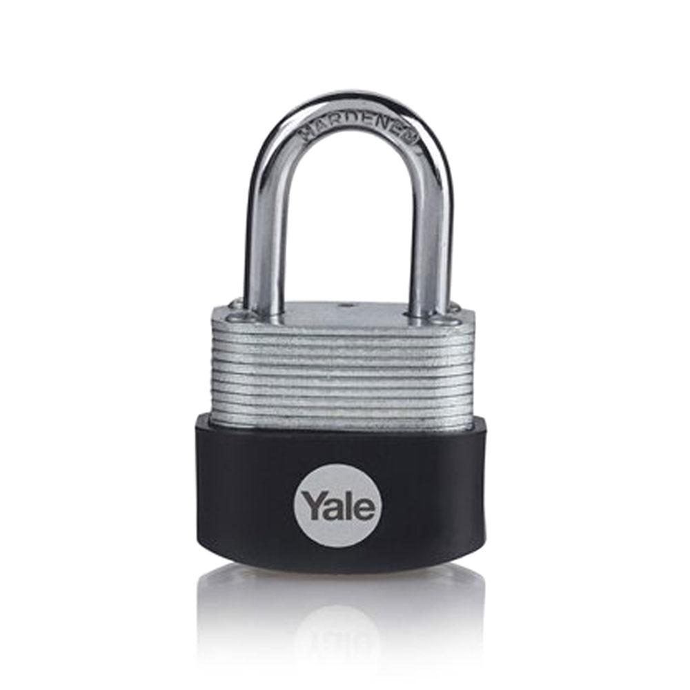 Lacat din otel laminat Yale Y115B/30/117/1, 30 mm, cheie, exterior imagine spy-shop.ro 2021