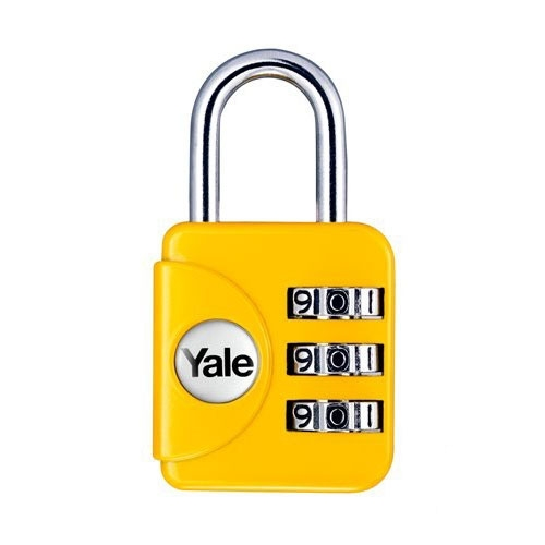 Lacat din zinc galben cu cifru Yale YP1/28/121/1G imagine spy-shop.ro 2021