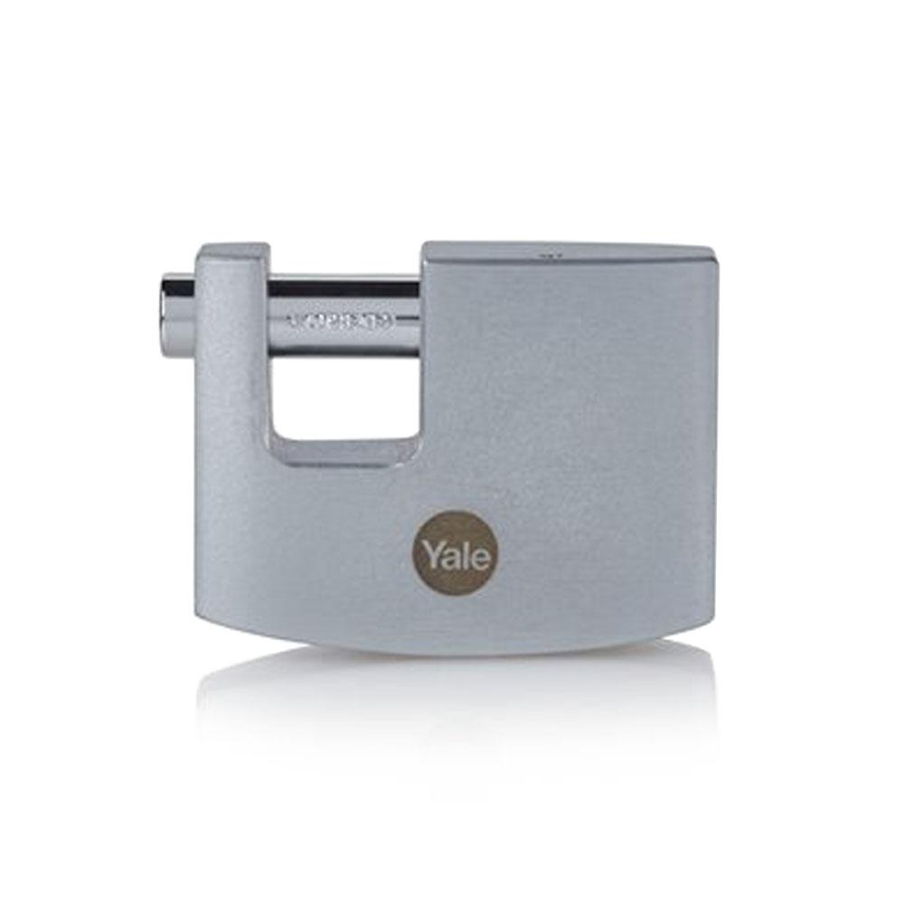 Lacat rectangular cu finisaj cromat Yale Y124B/60/110/1, 60 mm, cheie, exterior imagine spy-shop.ro 2021