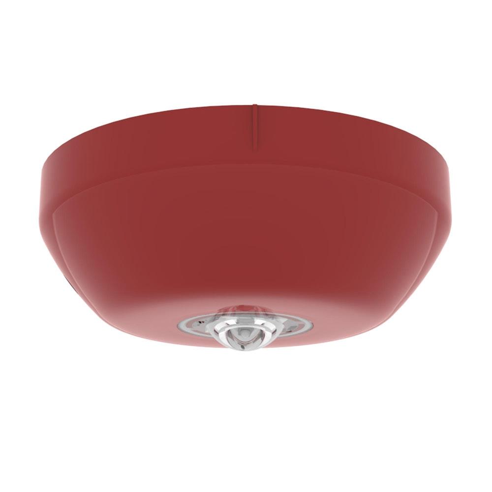 Lampa de incendiu adresabila pentru tavan Hochiki ESP CHQ-CB(RED)/WL, 7.5 m, LED alb, carcasa PC+ABS rosu