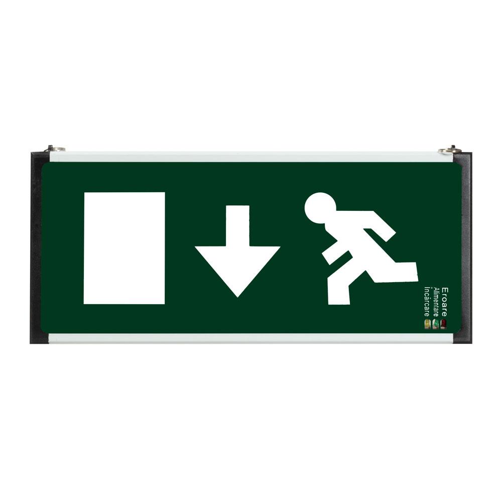 Lampa exit LED EL0057272, 2W, autonomie 2 ore, jos imagine spy-shop.ro 2021
